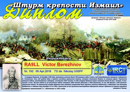 Відкриті заочні змагання в Одеській області з радіозв'язку на коротких хвилях серед учнівської молоді «Штурм фортеці Ізмаїл»